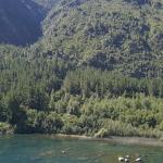 Vista desde el lago a la propiedad