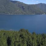 Vista hacia el lago desde la parte alta del terreno